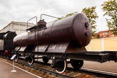 顿河畔罗斯托夫,俄罗斯- 2011年9月1日:坦克车在交通博物馆 免版税库存照片