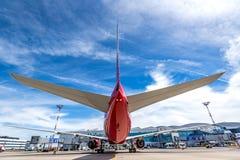 顿河畔罗斯托夫,俄罗斯- 2018年6月17日:波音Rossiya航空公司777-300ER  免版税图库摄影