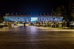 顿河畔罗斯托夫,俄罗斯- 2018年6月15日:罗斯托夫橄榄球杯的竞技场体育场2018年 库存照片