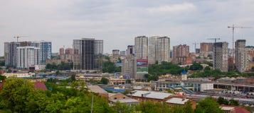 顿河畔罗斯托夫,俄罗斯- 2018年5月18日:顿河畔罗斯托夫市的看法 俄国 免版税库存照片