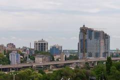 顿河畔罗斯托夫,俄罗斯- 2018年5月18日:顿河畔罗斯托夫市的看法 俄国 库存图片
