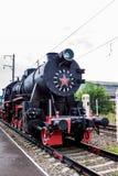 顿河畔罗斯托夫,俄罗斯- 2011年9月1日:TE-322机车在交通博物馆 免版税库存照片