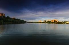 顿河畔罗斯托夫,北存贮池塘 免版税库存图片