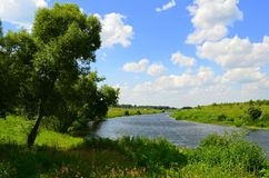 顿河的上部伸手可及的距离 免版税库存照片