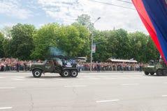 顿涅茨克人共和国 胜利天游行 2016年, 5月9日 免版税图库摄影