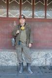 顿涅茨克,乌克兰- 2012年11月22日:矿工代表Skochinsky矿 免版税库存图片