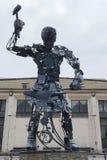 顿涅茨克,乌克兰- 2017年5月09日:Hephaestus `在t的铁雕塑 免版税库存照片