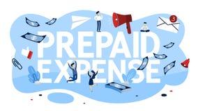 预付的费用概念 付物品的付款 向量例证