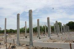 预制混凝土基础在泰国 库存照片