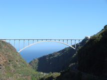 预加应力的桥梁混凝土 库存图片