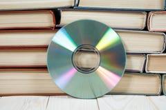 预定与在白色背景e书或数字存储概念的光盘 图库摄影