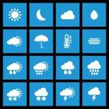预测我画廊的图标请参见类似访问天气 免版税库存照片