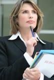 预算值企业规划成功的妇女 免版税库存照片