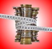 预算值保存 免版税库存照片