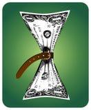 预算值减少 免版税库存图片