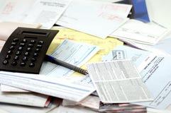 预算值工具 免版税库存照片