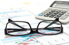 预算值桌面 免版税库存照片