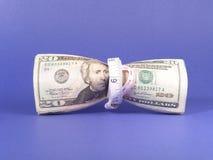 预算值通货膨胀拉紧 免版税库存图片