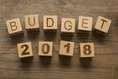 预算在2018年 库存照片