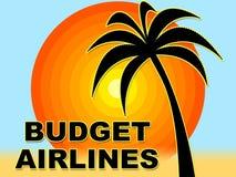 预算航空公司表明打折扣和交易 皇族释放例证
