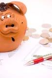 预算赤字 库存照片