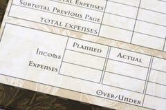 预算页 免版税图库摄影