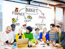 预算财务现金资金挽救会计概念 免版税库存图片