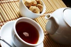 预约棕色表茶时间 免版税库存照片