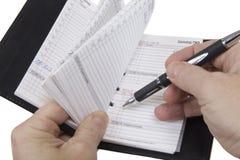 预约计划程序 免版税库存照片