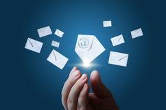 预览电子邮件 免版税库存照片