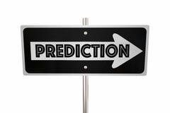 预言一方式标志朝前看今后 库存例证