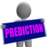 预言符号字符显示未来展望和命运 免版税库存照片
