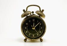 预警古色古香的时钟 免版税库存图片