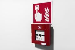 预警按钮火红色 库存图片