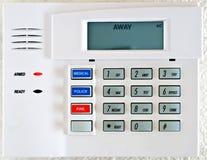 预警键盘照片住宅库存系统 免版税库存照片