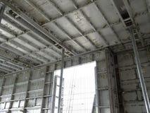 预铸的铝形式工作使用在工地工作作为临时形式工作 库存照片