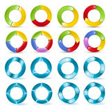 预紧器和3D圆形统计图表传染媒介 免版税库存照片