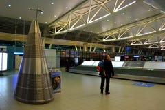 领取行李机场区域 免版税库存照片