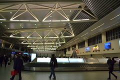 领取行李机场区域 图库摄影