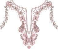 领口例证设计时尚 免版税库存图片