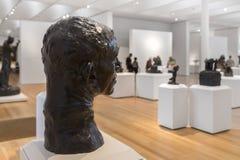 领唱者艺术品收藏的罗丹雕塑在北卡罗来纳 免版税库存照片