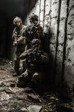 领域制服的军队别动队员 库存图片