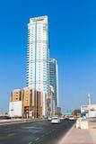领域塔在麦纳麦市,巴林 东部中间名 免版税图库摄影