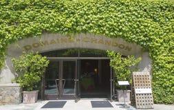 领域尚东酿酒厂在纳帕谷 免版税库存图片