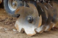 领域的农业设备 免版税库存照片