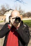 领域的摄影师 库存照片