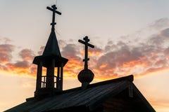 领域的木教堂 图库摄影