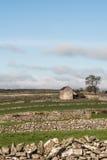 领域的谷仓,画象 免版税库存照片