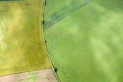 领域空中照片,德国 免版税库存照片