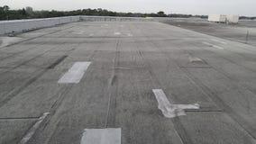 领域;在商业大厦的修改过的屋顶发现了空中气涡 图库摄影